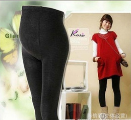 Wholesale Korean Warm Clothing - 2017 winter autumn spring maternity clothing wholesale Korean elastic black brushed warm pregnant women pantyhose leggings