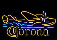 "Wholesale Corona Beer Signs - new corona plane real glass neon beer signs neon signs pub bars neon light lamp 19""x15"""