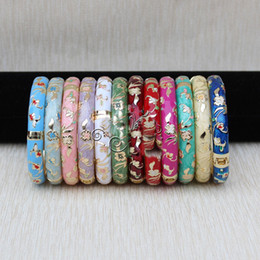Wholesale Enamel Cloisonne Bracelet Bangle - Wholesale cheap 50 PCS Stunning CHINESE Handmade Cloisonne Enamel Cuff Bracelet