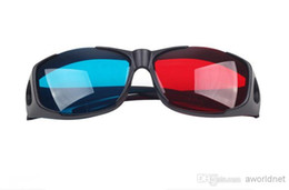 Wholesale Red Blue Anaglyph - Wholesale - Universal type 3D glasses Red Blue Cyan 3D glasses Anaglyph NVIDIA 3D vision Plastic glasses