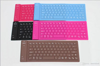 Wholesale wireless silicone bluetooth keyboard - Wholesale - 82 keys Silicone Foldable wireless Bluetooth Keyboard mini wireless Bluetooth silicone keyboard