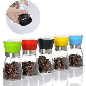 Pepper Salt Grinder Glass Cruet Mill Spice Jar Ceramic Core