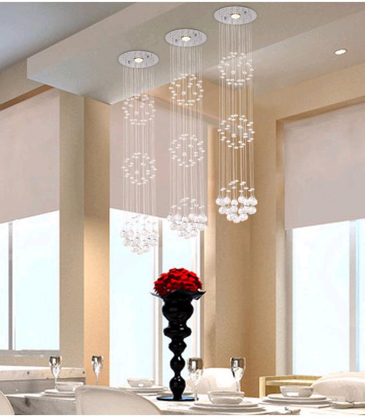Modern Crystal Chandeliers Ceiling Crystal Pendant Lamp Living Room Lights Dining  Room Chandelier And Pendants Crystal Drop Lights Drum Light Pendant ...