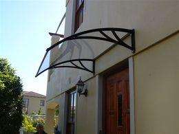 Wholesale Door Window Awning - 80*120cm PC door awning window awing solid PC sheet door canopy
