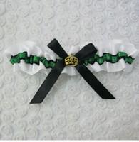 Wholesale Green Bridal Garter - Romantic green Garters bowknot flowers Leg ring Wedding Bridal Garters