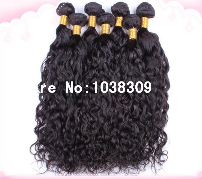 Wholesale discount high quality cheapest super soft unprocessed virgin Peruvian human remy hair natural water wave hair weave free shipping