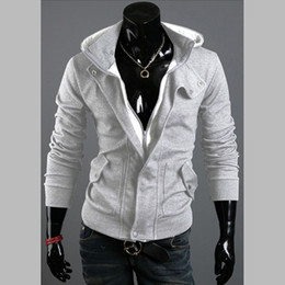 Wholesale Quilted Sleeves - Mens Coats Fashion Mens Warm and Quilted Casual Coats wih Hat Hot Male Long Sleeve and Slim Coats
