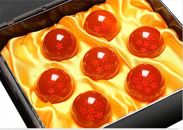 Super Big 7.6CM Animation dragonBall 7 stars crystal ball set of 7 pcs New in Box dragon ball Z complete Handicraft furnishing articles