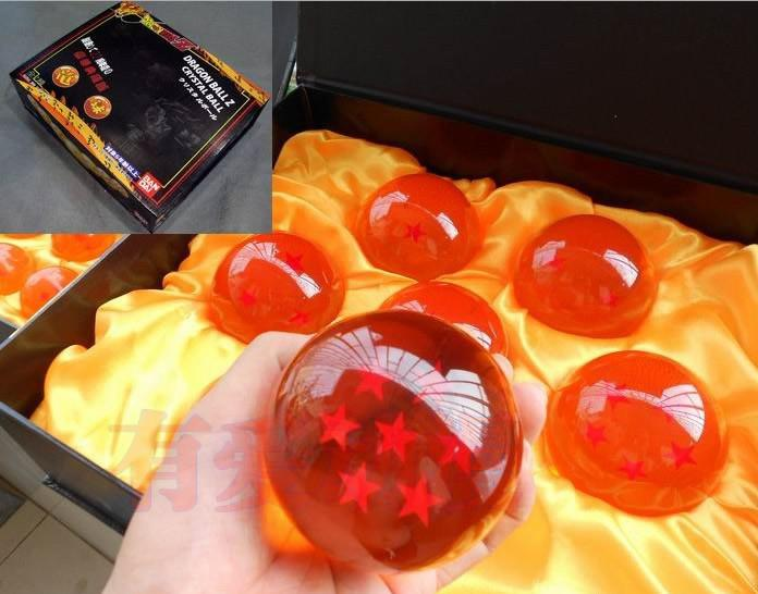 Super Big 7.6CM Animation dragonBall 7 stars crystal ball set of New in Box dragon ball Z complete Handicraft furnishing articles