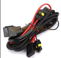 Wholesale xenon volkswagen - 10PCS LOT H8 H9 H11 Relay Harness For Xenon HID Conversion Kit, H8 H9 H11 HID Fuse Relay Wire Wiring Harness for HID Conversion Kit