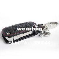 Wholesale Black Leather Key Fob - 2014 new addan Genuine Leather Car Key Fob Cover Key case wallet for SEAT IBIZA Leon vw Skoda Octavia Fabia Superb Rapid Yeti