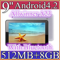 100PCS barato 9 pulgadas Dual core core Android 4.2 Tablet PC 512MB 8GB 1.5GHz Allwinner A23 Bluetooth 9-5