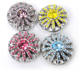 Wholesale Pink Cz Stone - Free shipping new arrival flower pink CZ stone charm chunks button beads ,metal chunks bracelets