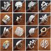 Newest arrival Fashion Jewelry 925 silver finge rings Beautiful women girls Multi Styles Rings Mix size Charming gift 60pcs lot Hot Sale