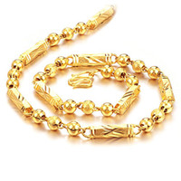 Wholesale 24k Gold Pendants Charms - Wholesale - 24k gold filled necklace length : 55cm, width : 5mm, weight : 45g, free shipping
