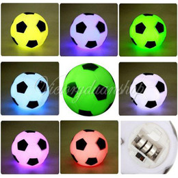 Holiday Gifts Free Shipping NZ - Free Shipping Changing Colorful LED Football Soccer Light Lamp Night Party Holiday Decoration Xmas Gift Present For Children