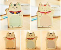 Wholesale cute sticky notepad resale online - New cute cats styles Notepad Memo pad Paper sticky note