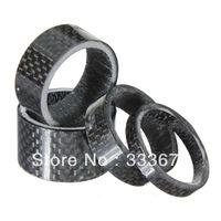 "Wholesale Aluminum Road - 4x Carbon 1-1 8"" 5-10-15-20mm Headset Stem spacer DB060"