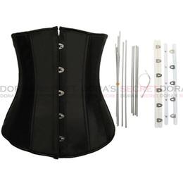 Wholesale Corset Drop Waist - 50% OFF !!Brand 2014 New Hot Satin steel bone underbust corsets Waist Training Corset M,L,XL,XXL drop shipping