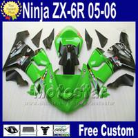 Wholesale kawasaki ninja 636 cowl resale online - Fairings Free Seat cowl for Kawasaki Ninja ZX R ZX R ZX6R zx636 green black ABS fairing kit fg23