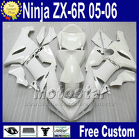 Wholesale kawasaki ninja 636 cowl for sale - Group buy Fairings Free Seat cowl for Kawasaki Ninja ZX R ZX R ZX6R zx636 all glossy white fairing kit fg29