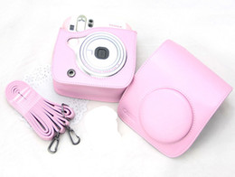 instax bag Canada - hot sale Leather Camera Case Bag For Fuji Fujifilm Instax Mini 25 Mini 25s pink