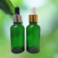 Wholesale Chemical Storage - 30ml Green glass dropper bottles Vials Essential Oil Bottle Sensitive Chemical Storage #7433