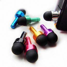 Wholesale Dust Cap Pen - Factory Sale 3.5mm Mini 2 in 1 Portable Anti-dust Ear Cap Dust Plug Stopper + Capacitive Touch Pen For iPhone Samsung Galaxy Colors 5000pcs