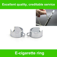 Wholesale Electronic Cigarette Necklace Holder - Ego Battery metal Ring For Ego Lanyard Vaporizer Necklace Holder eGo Necklace String Ring for eGo Series Electronic Cigarette ring FREE ship