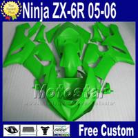 Wholesale kawasaki ninja 636 cowl resale online - Full fairing Free Seat cowl for ZX6R Kawasaki Ninja ZX R ZX R ZX636 all green motorcycle fairings kit fg53