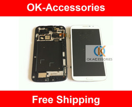 Wholesale Mega Panel - 1PC Lot White Black Color Touch Screen+LCD Digitizer With Frame For Samsung Galaxy Mega 6.3 i9200 Free Shipping