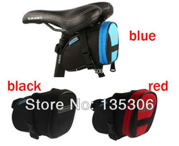 Wholesale Blue Racing Seats - Updated ! Hot Sale Bicycle Bike Cycling Saddle Outdoor Pouch Back Seat Bag Basket,Racing Small Saddle Bag BA-17