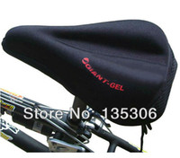Wholesale bike seat gel cover - Free Shipping Silicone Thick Soft Gel Bike Bicycle Saddle seat Cover Cushion Pad Cushion Black