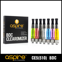 Wholesale Ego Ce5 Filling - Wholesale-100% Genuine Aspire CE5 BVC Clearomier Atomizer Bottom Filling Heating Dual Coil Aspire BVC CE5 510 EGO Atomizer DHL Free Shipping