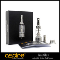 Wholesale Ego Atomizer 5ml - 100% Original Aspire Eigate Nautilus Tank 5ML Adjustable Airflow Atomizer Vaporizer for eGo Battery Factory supply BDC BVC coils