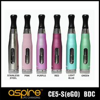 Wholesale Ego S Batteries - Aspire CE5S 1.8ohm Bottom Dual Coil Tank Aspire CE5 S BDC rebuildable Atomizere e ciagrette for ego 510 thread battery
