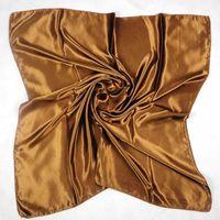 grandes enveloppes de soie achat en gros de-Mesdames et grils nouvelle mode solide écharpes polyster écharpes châle Wrap poncho populaire grand carré en soie 25pcs / lot # 7029