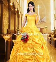 ingrosso vestiti di promenade gialli in vendita-Steampunk Bustle Yellow Dress Abiti vittoriani in vendita Abiti da cerimonia Abiti da cerimonia speciali