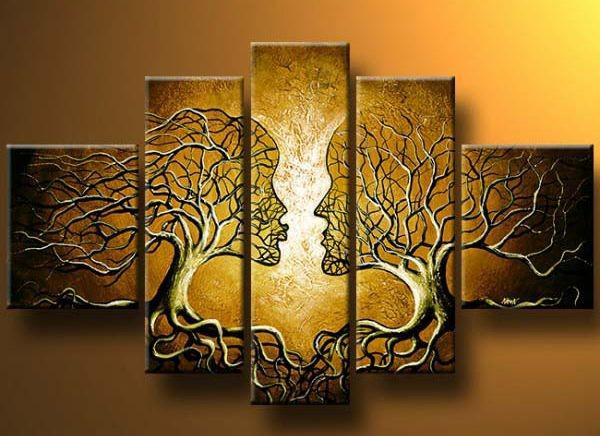 best selling free shipping oil painting Portrait Couple Tree Love Tree modern abstract high quality hand painted Oil Painting home hotel wall art decor