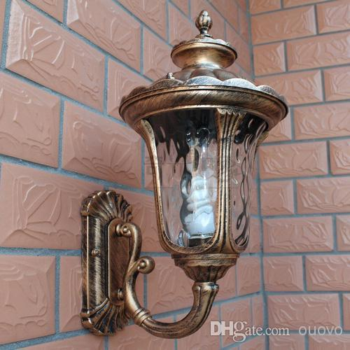 Discount Outdoor Wall Lighting: Online Cheap Wholesale Bronze Vintage Round Shade Outdoor