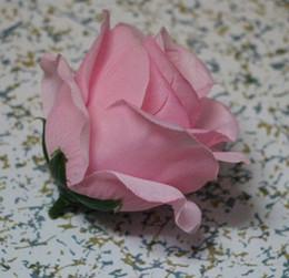 2019 piante di rose desertiche Caldo ! 50pcs fiori artificiali rose rosa testa fiore fiore palla disposizione fiori fiore di seta 9cm (32)