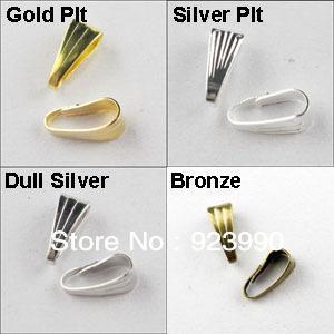 Ücretsiz Kargo 500 Adet Kolye Bağlayıcı Klip Kefalet Altın Gümüş Bronz Mat Gümüş Kaplama 3x7mm Takı Yapımı El Sanatları DIY Için w02924