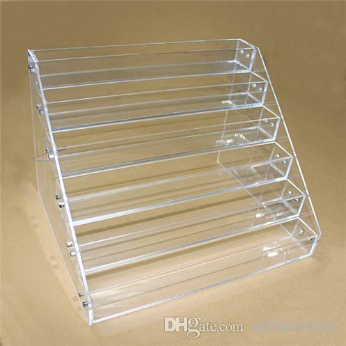 Acrylic ecig display showcase 10ml 20ml 30ml 50m clear shelf holder rack for ecig e liquid eliquid e juice bottle bottle by DHL