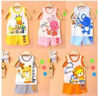 Wholesale Undershirt Child Boy - Hot Baby Children clothing set, t-shirts girls boys t shirt+pants undershirt Shorts,kids pajama set,Children t shirts