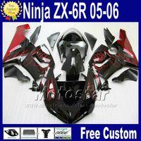 Wholesale kawasaki ninja 636 cowl for sale - Group buy ABS bodywork Free Seat cowl for ZX R Kawasaki Ninja fairing ZX6R ZX636 red flame black fairings kit Q73 ZX R Gifts