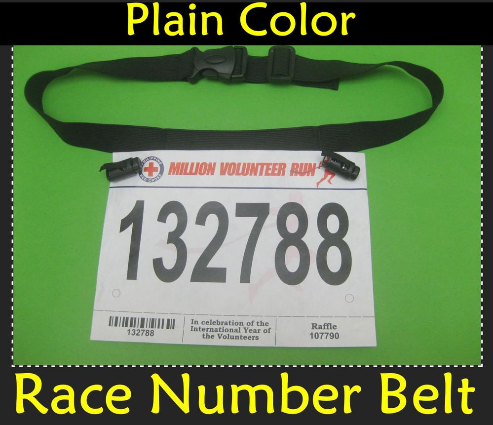 2018 ~sports Gear Base Race Number Belt~plain Color Without Any ...