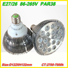 par 38 light bulbs Canada - free shipping 8X Dropship pink red blue green yellow E27 36W Par 38 PAR38 LED Bulb Lamp Light 85-256V with 18 LEDS Light CE & RoHS
