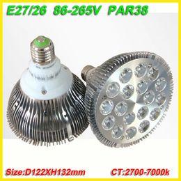 Wholesale Led Par 38 E27 Light - free shipping 8X Dropship pink red blue green yellow E27 36W Par 38 PAR38 LED Bulb Lamp Light 85-256V with 18 LEDS Light CE & RoHS
