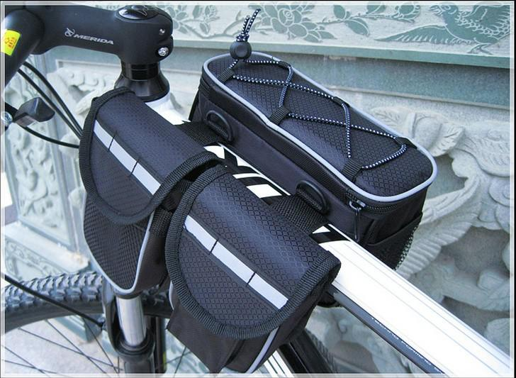 3 Clor Mountain Bike Frame Bag Front Tube Double Side Bag Cycling