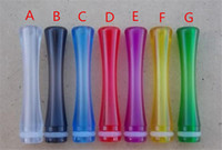 Wholesale Ce4 Transparent - New arrival Transparent 510 Long Drip Tip EGO Atomizer drip tips for ce4 vivi nova dct plastic Clearomizer Mouthpiece ego evod E Cigarette